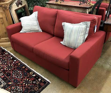 room and board loveseat consignment furniture avon vail nest