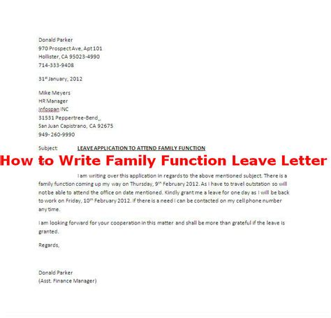 How To Write A Leaving Letter festival leave letter sle