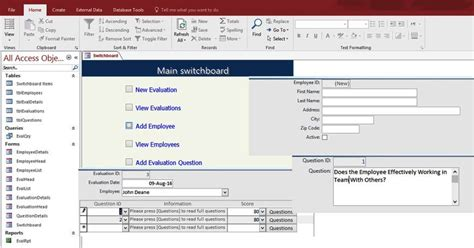 access form templates microsoft access 2016 templates in access database