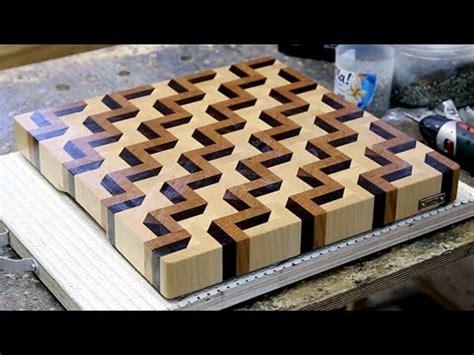 3d woodworking a 3d end grain cutting board 3