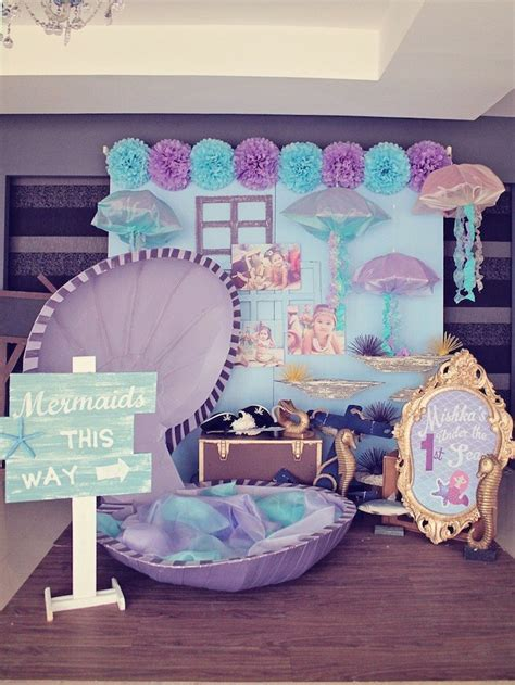 mermaid theme decorations mermaids vs themed birthday with so many