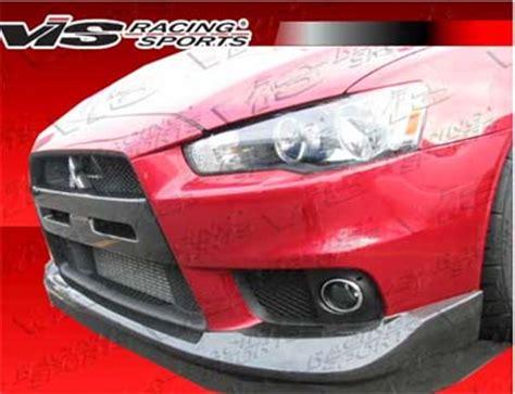 Grill Lancer Evo 5 Racing vis racing oem style carbon fiber center grill insert evo x evo x exterior parts evo x