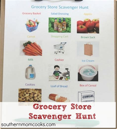 printable grocery list for busy moms free grocery store scavenger hunt printable free
