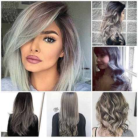 popular trending gray hair colors long hairstyles inspirational new hairstyles for women