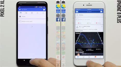 เปร ยบเท ยบความเร ว speed test pixel 2 xl ก บ iphone 8 plus thaitechnewsblog