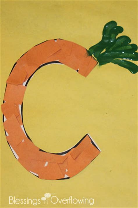 c crafts for letter c carrots