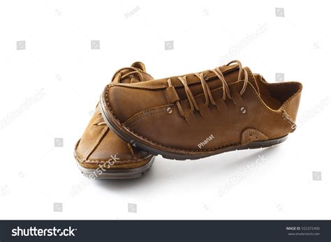 Official Winter Shoes Massimo Italiano Brown Formal Shoes Shoes White Background Stock Photo 552372400