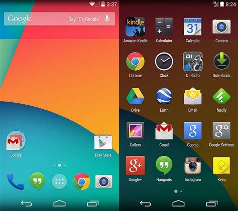 android interface android 4 4 kitkat review an only slightly better android greenbot