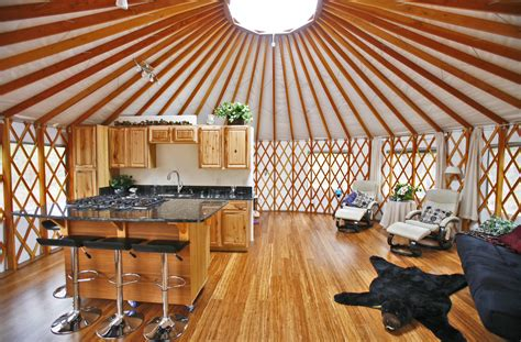 Square Kitchen Design yurt home decorating ideas pacific yurts