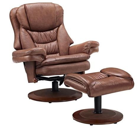 leather swivel recliner with ottoman mac motion saddle leather swivel recliner with ottoman