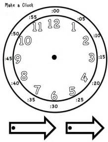 make a clock template printable student clock calendar template 2016