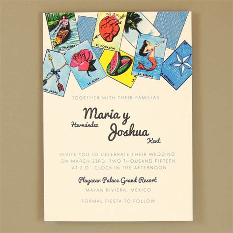 Loteria Wedding Invitation   Multiculturally Wed