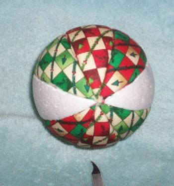 fabric covered styrofoam ball ornament instructions