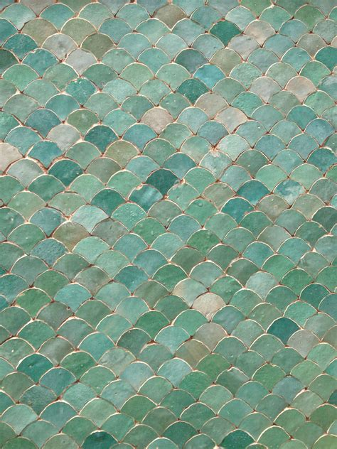 aqua tiles in marrakech morocco scales this would look