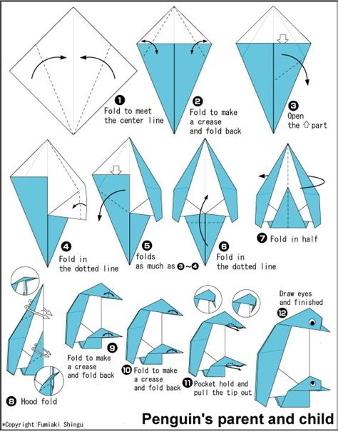 How To Make A Penguin With Paper - 14 best penguin images on origami penguin