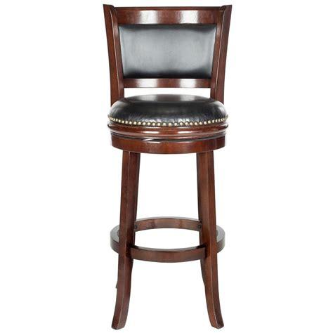 cushioned bar stool safavieh brockway 29 in cappuccino swivel cushioned bar
