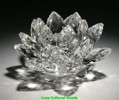 crystal lotus flower home decor decoration gift clear