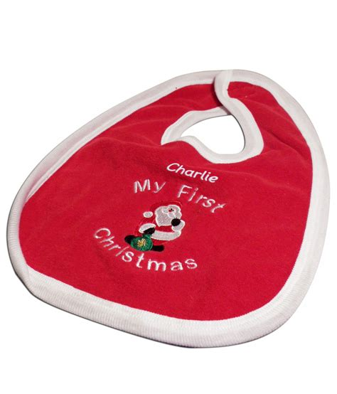 personalised baby bib baby s 1st christmas just for gifts