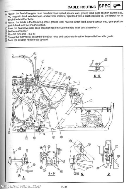 yamaha grizzly 660 wiring diagram yfm660fa grizzly 660 yamaha atv service manual 2003 2008