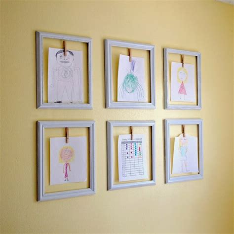 ways to display artwork creative ways to display your children s artwork emerald