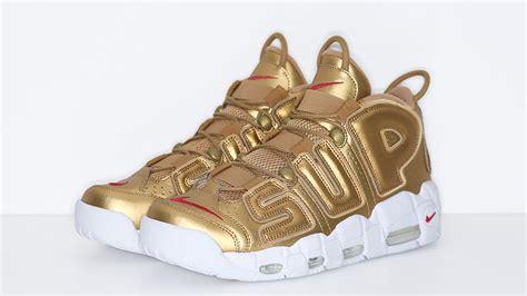 Nike Uptempo X Supreme Gold Premium supreme x nike air more uptempo suptempo gold the sole supplier