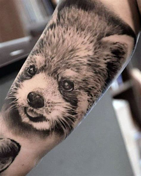panda tattoo realistic 60 red panda tattoo designs for men animal ink ideas