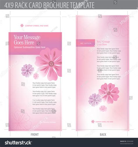 4x9 rack card template free 4x9 rack card brochure template includes cropmarks