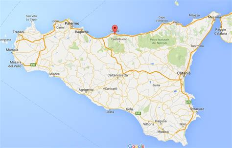 sicily on map where is cefalu on map sicily