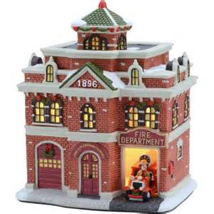 holiday time 7 625 quot fire department christmas village