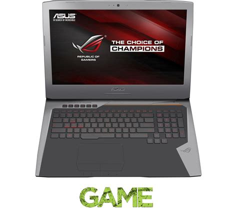 17 3 Asus Republic Of Gamers I7 Gaming Laptop asus republic of gamers g752vy t7049t 17 3 quot gaming laptop silver deals pc world