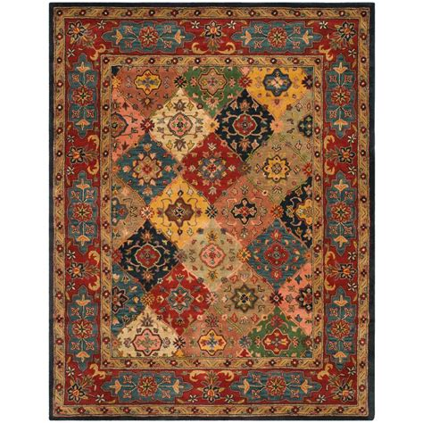 9 foot rugs safavieh heritage multi 9 ft x 12 ft area rug hg926a 912 the home depot