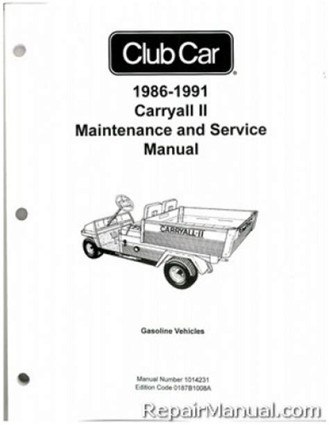 service manual where to buy car manuals 1986 ford ranger windshield wipe control 1986 ford 1986 1991 club car carryall ii gas service manual
