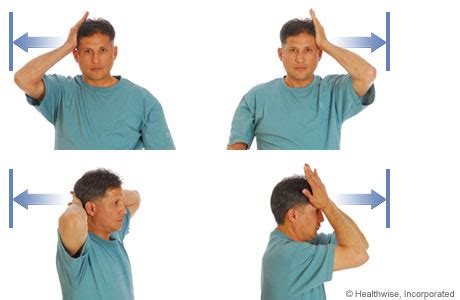 isometric exercise hands on head