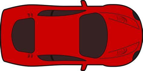 pixel car top view clipart red racing car top view