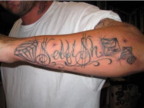 diamond tattoo with name 37 forearm name tattoos