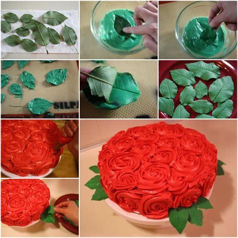 diy leaf for cake decoration