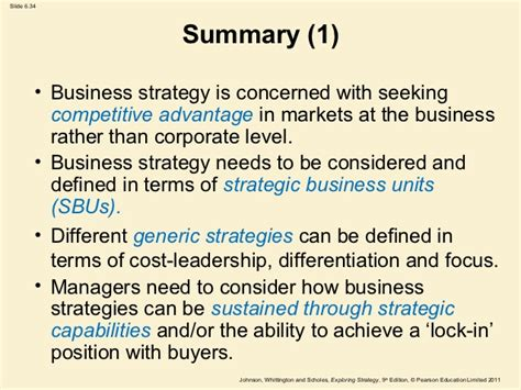 Mba With Focus On Strategy by Focus Differentiation Strategy Definition