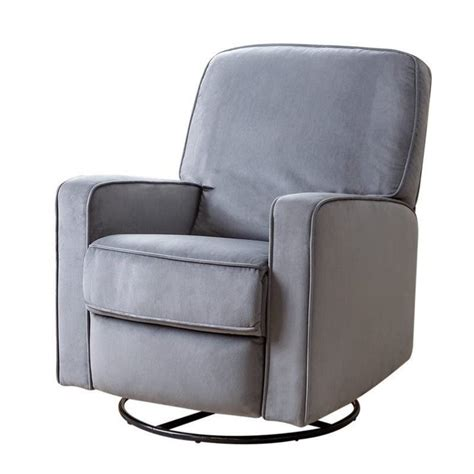 Microfiber Swivel Glider Recliner Chair Ottoman Microfiber Glider Recliner With Ottoman