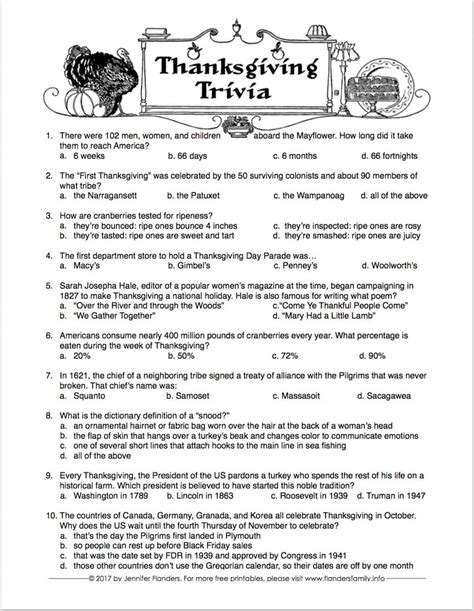 best thanksgiving trivia question free printable thanksgiving trivia quiz challenge your family and friends let us