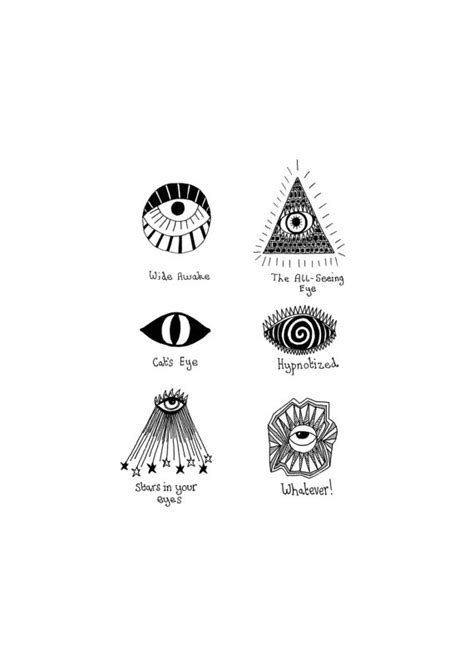third eye tattoo meaning evil a5 print by annarack on etsy 163 6 00