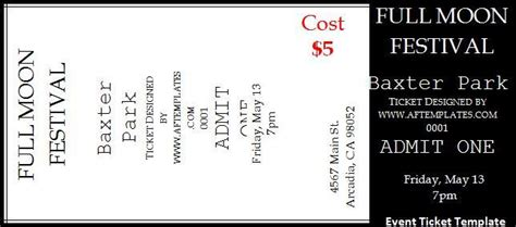 2 Event Ticket Templates Free Word Templates Free Sle Event Tickets Template