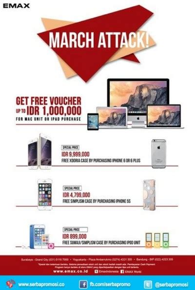 Macbook Di Emax Emax Promo March Attack Free Voucher Up To 1 Juta Emax Gadget Store Serbapromosi Co