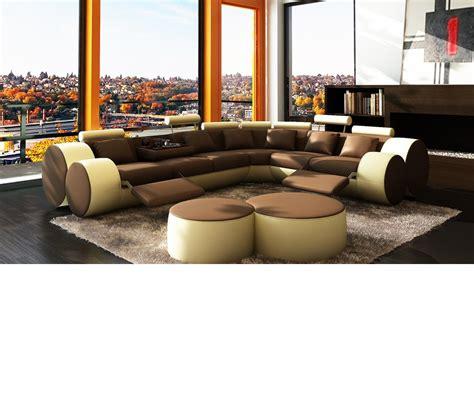 sofa ottomans dreamfurniture com divani casa 3087 modern leather
