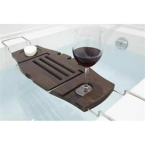bathtub accessories caddy umbra aquala wood bathtub caddy umbra from danish