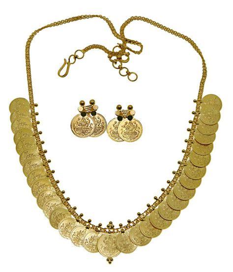 kothari jewelry 22kt gold lakshmi coin necklace set buy