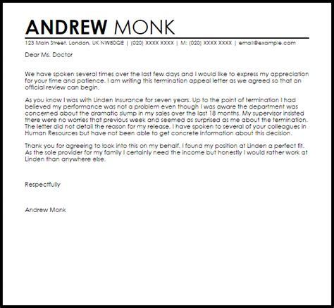Appeal Letter Template For Dismissal