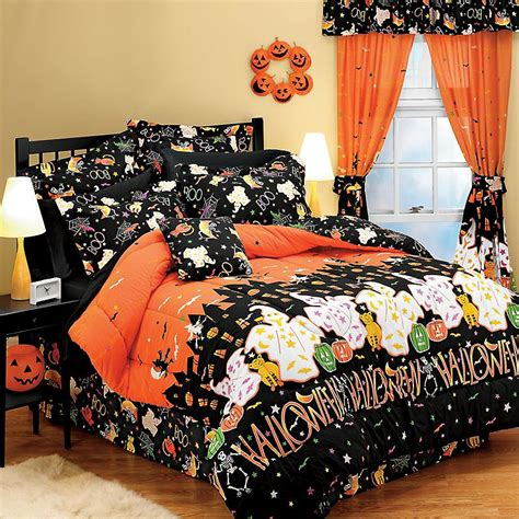 halloween bedroom decorating ideas halloween haunted house ghosts decor full bedding set ebay