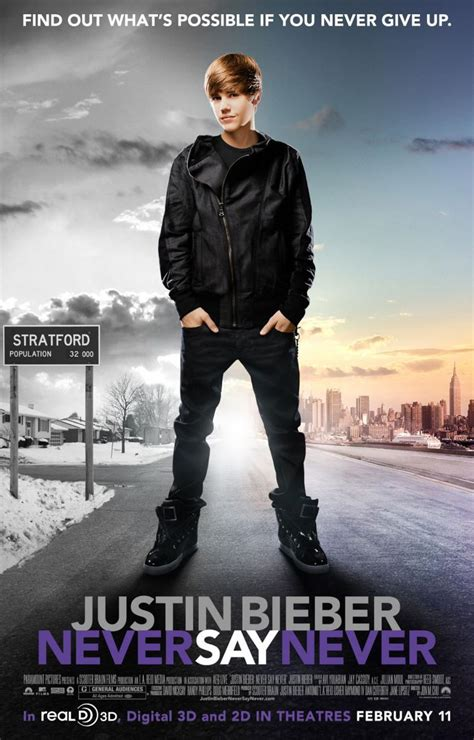 never say never never say never see what is possible if by justin bieber