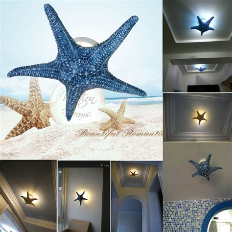 colors  sizes modern starfish wall light fixture