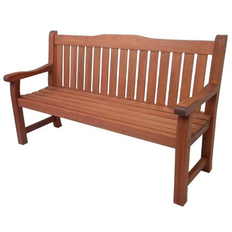 siesta outdoor timber 3 seater bench temple webster